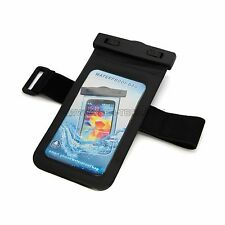 CyberTech Black Waterproof Pouch Case with Armband and Headphone Jack