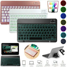 "Slim Backlit Bluetooth Keyboard For iPad Android 7.0"" 8.0"" 10"" 10.1"" inch Tablet"