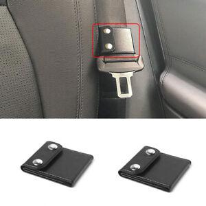 2X Car Seat Belt Adjuster Shoulder Neck Strap Positioner Clip Protector Black P