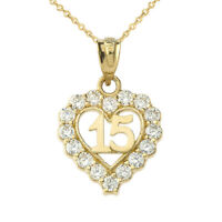 Solid Gold Diamond & Genuine Ruby Pendant Necklace (Yellow,White,Rose)