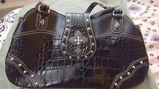 Western Cross Style Black Bag Purse shoulder bag
