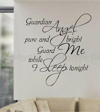 Guardian Angel Wall Quote decal Removable stickers decor Vinyl DIY home art