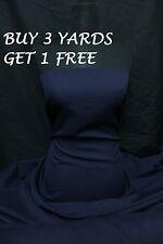 Plain Navy Blue Polyester Bi-Stretch Suit Dress Uniform Crafts Fabric Material