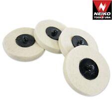 "20 Neiko 3"" Polishing Discs Wool Buffing Wheel Automotive Detailing Tools"