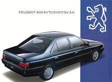 Peugeot - 605 - SV3.0 - SVDT- SVTI - Prospekt -1994- Deutsch - nl-Versandhandel