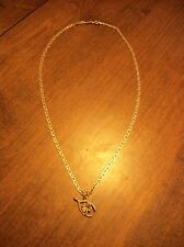 Sterling Silver Shamrock Clover Necklace & Pendant 20""