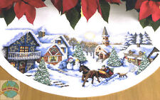 Cross Stitch Kit ~ Dimensions Sleigh Ride Christmas Tree Skirt #70-08830