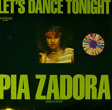 "Pia Zadora - Let's Dance Tonight - 12"" Maxi-C169 - Multi Colored Vinyl - washed"