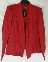 City Chic Women's Red Size M/18 Blazer Jacket New with Tags