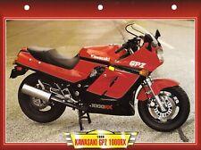 PHOTO +  FICHE TECHNIQUE MOTO  /  KAWASAKI GPZ 1000 RX . 1986 .   NEUVE