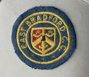 Vintage East Bradford Cycling Club Cloth badge Patch Bike Bicycle West Yorkshire