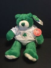 "Build A Bear 14"" Beary Limited Edition McBearish 2001 Green Shamrock NWT HTF BAB"