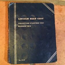 Whitman Lincoln penny cent folder # 2 from 1941 almost complete collection