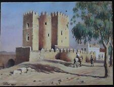 Aquarelle orientaliste Cordoue la Calahorra Almohade MIRVAL orientalist painting