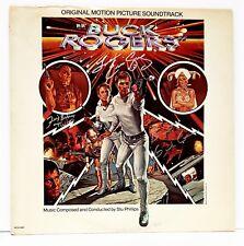 BUCK ROGERS Cast GIL GERARD, ERIN GRAY & FELIX SILVA Signed Album LP Beckett BAS