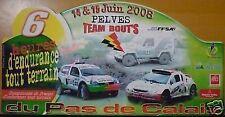 PLAQUE TOUT TERRAIN PAS DE CALAIS BUGGY TOYOTA CLIO T3 RALLYE AUTO