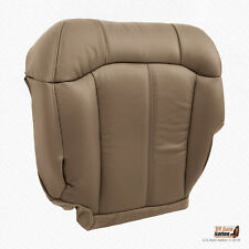 2001 2002 Chevy Silverado 3500 Driver Bottom Synthetic Leather Seat Cover MedTan