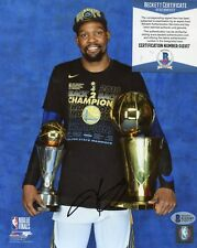 KEVIN DURANT GOLDEN STATE WARRIORS SIGNED 8x10 PHOTO BECKETT BAS COA G12107