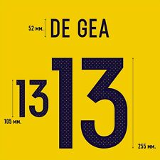 De Gea 13. Spain Goalkeeper football shirt 2016 - 2017 FLEX NAMESET NAME SET