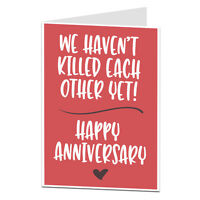 Anniversary Card 1st 2nd 3rd 4th 5th 10th 20th Alternative Funny Sarcastic