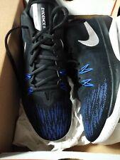 Nike Men's Zoom Evidence II Basketball Shoe Black/Meta Silver 908976-004 Size 10