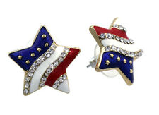 New listing 4th of July Usa American Flag Star Stud Earrings Independence Day Jewelry Gift