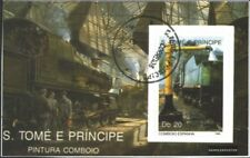 Sao Tome e Principe block212 (complete.issue.) fine used / cancelled 1989 Locomo