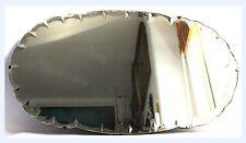 VINTAGE specchio Conchiglia CONICA BORDO SMUSSATO metà del secolo Art Deco Frameless, catena