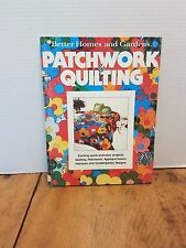 Patchwork & Quilting Better Homes & Gardens Hardcover RETRO 1977