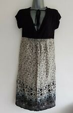 PATCH MATERNITY Women's Sand Floral Printed Voile Knit Dress. Size Small. NEW!.