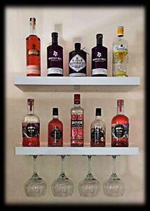 🍹🍺4 x METAL WINE GLASS HOLDERS  Bar Beer Gin Hanging Rack Mount Flush UK  🍷🍸