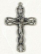 "Auto Car Devotional: Flower Style Cross Crucifix on 15"" Pop-bead Chain"