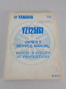 Taller Manual / Manual D'Entretien Yamaha YZ 125 G Moto de Cross Desde 09/1979