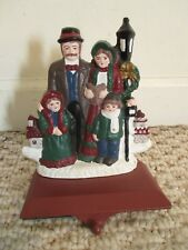 Midwest Cannon Falls Christmas Carolers Stocking Holder cast iron Vintage
