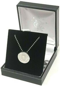 GLASGOW RANGERS FC STAINLESS STEEL CREST PENDANT & CHAIN NECKLACE