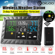 DIGOO Weather Station Temperature Humidity Sensor Alarm Clock Indoor/Outdoor
