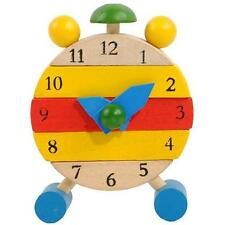Hand Made Wooden Clock Toys for Kids Learn Time Clock Educational Toys