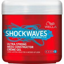 Wella Shockwaves Ultra Strong Mess Constructor Crème Gel Long-Lasting Hold 150ml