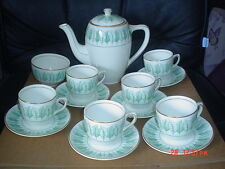 Royal Tunstall PRINCE CONSORT Coffee Pot Sugar Bowl 6 X Cups And Saucers