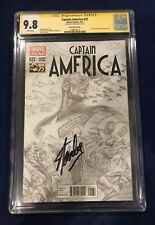 Captain America 22 Ross Sketch Cover 1:300 CGC 9.8 Signed by Stan Lee on 11/4/18