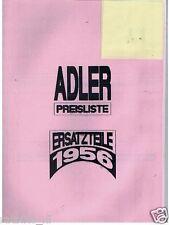 A0004-ADLER---PREISLISTE ERSATZTEILE AB 1-4-1956 PHOTOCOPY