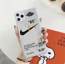 NIKE LOGO Boy  AIR OFF-WHITE Soft Phone Case Cover For iPhone11Pro Max White