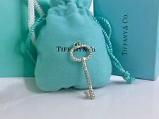 """Tiffany & Co. 925 Silver Twist Oval Key Tag Pendant for Necklace 1.90"""" L"""