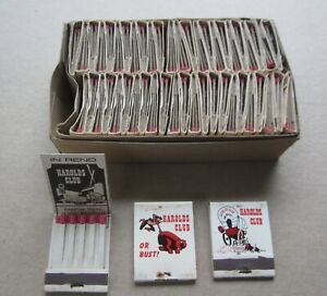 Full Box of 50 Old Vintage HAROLDS CLUB - CASINO - Matchbooks - RENO NEVADA