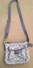 Coach Signature Fabric Crossbody Bag Blue
