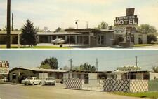 FRONTIER MOTEL Caldwell, Idaho Roadside Vintage Postcard ca 1960s