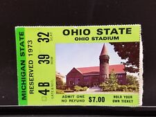 VTG Ohio State VS Michigan State Ticket Stub 1973 OSU Buckeyes College Football