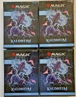 Lot of 4 Magic the Gathering MTG Kaldheim Collector Edition Booster Box Sealed!