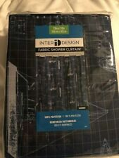 InterDesign 100% Polyester Fabric Shower Curtain, 72 x 72 - Blue sailboat