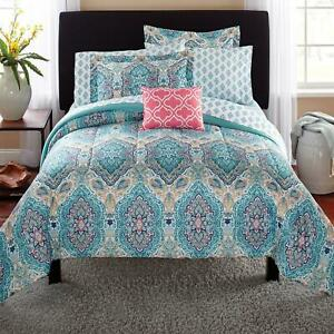 Mainstays Monique Paisley Complete Bedding, Queen